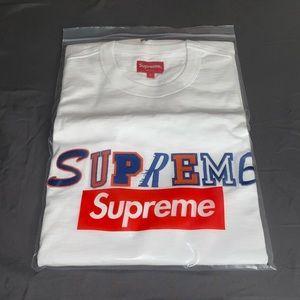 NWT Supreme S/S Logo Collage T- Shirt (White) L